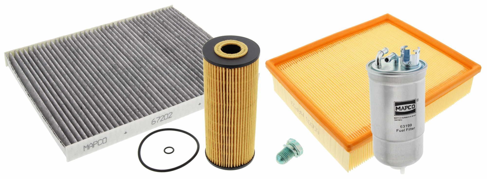 Mapco 68905 Filter Set 2001 Passat Fuel